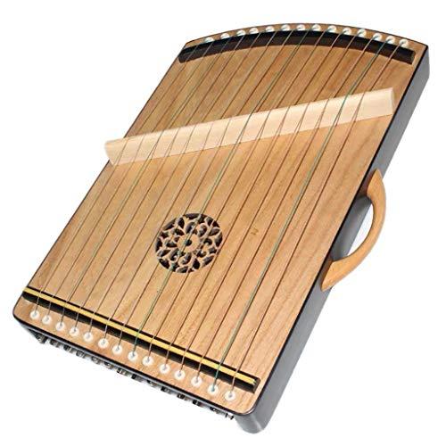 SXQ Mini Guzhengs, Gu Zheng Exerciser, chinesische Guzheng Instrument mit Voll Zubehör/Rucksack geeignet for Anfänger/Erwachsene/Kinder, 14 Streicher, 45 * 25 cm