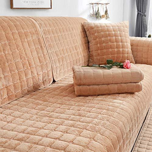 HXTSWGS Funda de sofá de Felpa de Invierno para Sala de Estar, Toalla de sofá, Estilo Europeo, Antideslizante, cálida, Funda de sofá, Fundas de cojín de Esquina para sofá-05_W90xL120cm