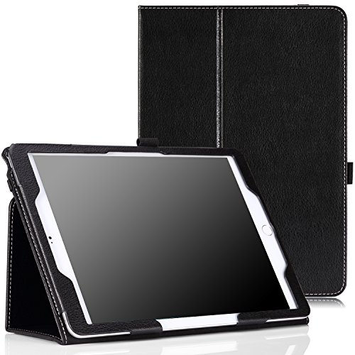"MoKo Case Fit iPad Air 2 - Slim Folding Cover Case Compatible with Apple iPad Air 2 9.7"" 2014 Released Tablet, Black (with Auto Wake/Sleep, Not Fit iPad Air 2013 Released Tablet)"