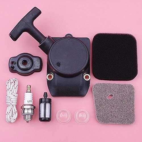 SYCEZHIJIA Cuerda de Arranque de Retroceso con Kit de Filtro de Aire y Combustible para Motosierra Stihl FS75 FS80 FS85 41371904000, 4137141 0500 con Bombilla de imprimación de bujía