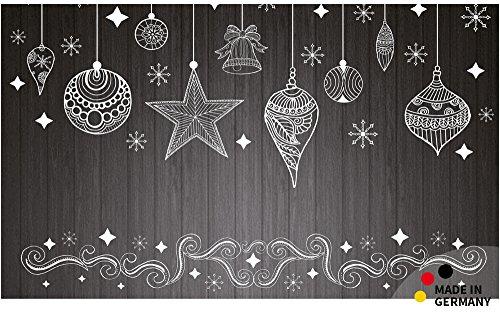 matches21 Fußmatte Fußabstreifer schmutzabsorbierend Schmutzfangmatte Weihnachten schwarz/weiß 110x65 cm waschbar