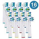 Replacement Brush Heads for Oral B Compatible Electric Toothbrush Heads, Including 4 Precision, 4 Floss, 4 Cross and 4 Whitening - 16 Variety Pack