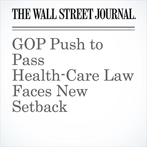 GOP Push to Pass Health-Care Law Faces New Setback copertina