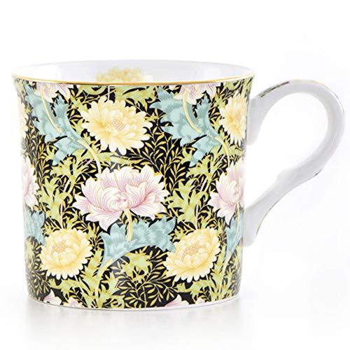 LOYWT Bone China, Becher, Vintage Kaffeetasse, britische Phnom Penh, schwarzer Tee Tasse, hochwertige Chrysantheme, nostalgische Gold.