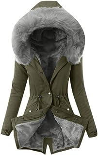 Modaworld Cappotto Donna Elegante Pelliccia Faux Giacca Donna Invernale Lungo Parka Invernale da Donna, Cappotto Caldo e F...