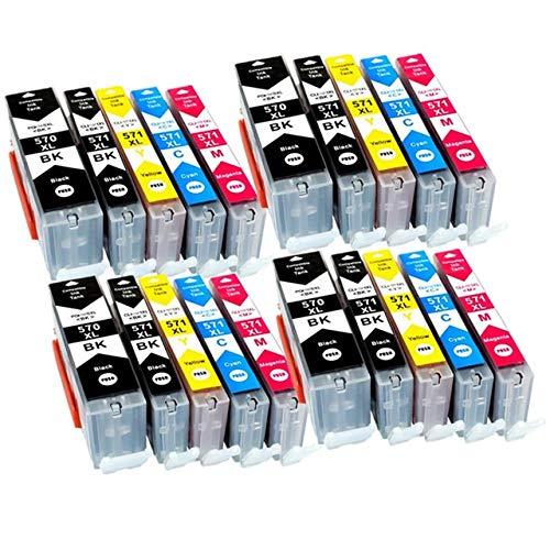 ZIJ En Forma for PGI-570xl PGI570 570xl PGI570 CLI-571 en Forma Compatible Cartucho de Tinta for Impresora Canon PIXMA MG5750 MG5751 MG5752 MG5753 MG6850 (Color : PGI570 4SET)