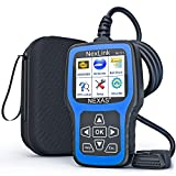 NEXAS NL101 Full OBD2 Scanner - Check Engine Light Car Code Reader All Automotive Diagnostic Tool Fault Code Scanner with Battery Test