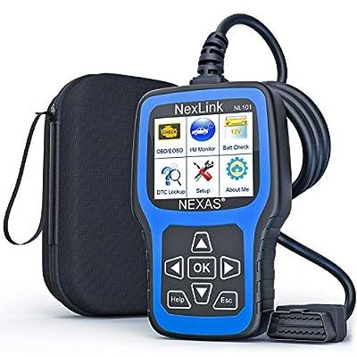 Amazon - Save 15.0%: NEXAS NL101 OBD2 Scanner – Check Engine Light Car Code Reader Au…