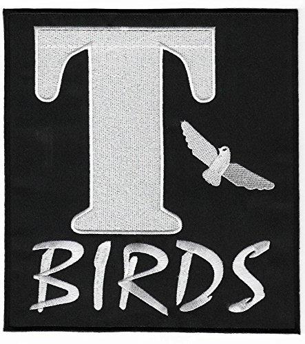 T-Birds Aufnäher XL, 20cm bestickter Aufnäher zum Aufbügeln für ein Grease-Kostüm, 1950erCosplay-Zubehör