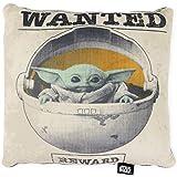 Disney Star Wars The Mandalorian Wanted Baby Yoda The Child Squishy Plush Throw Pillow - 13x11 inches