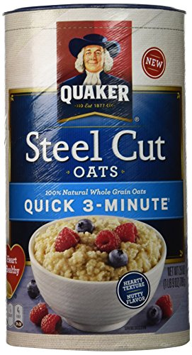 QUAKER Steel Cut Quick Oats, 25 oz