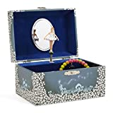 Jewelkeeper Girl's Musical Jewellery Storage Box with Twirling Fairy Blue and White Star