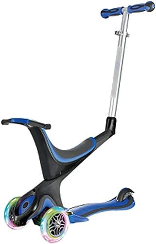 mas barato Scooter 5 en en en 1 para Niños Scooter Puede Sentarse Scooter Desmontable Adecuado para Niños de 2 a 14 años (Color   azul)  descuento de bajo precio