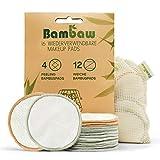 Waschbare Abschminkpads | 16 Wiederverwendbare Wattepads aus Bambus & Baumwolle mit Wäschebeutel |...