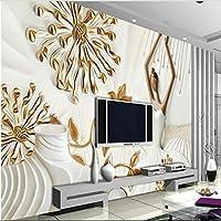 Ljjlm カスタム大規模壁画モダンバレエパターンエンボスフレスコテレビ背景壁不織布壁紙-280X200Cm