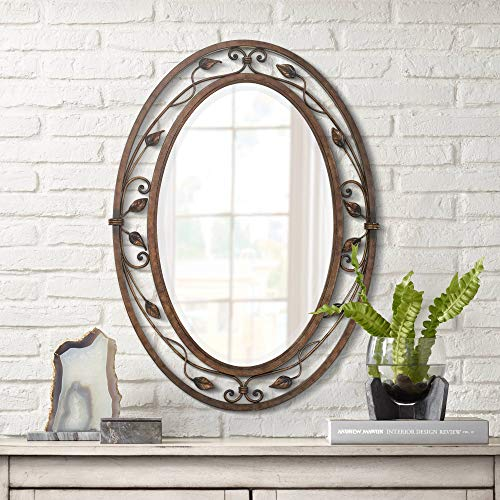 Franklin Iron Works Eden Park French Bronze Oval Bathroom Mirror