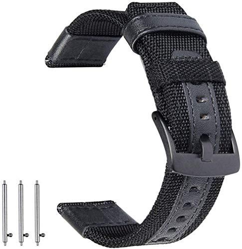 OTOPO - Correa de repuesto para Samsung Galaxy Watch 3, 45 mm, nailon de 22 mm, para reloj inteligente Samsung Galaxy Watch3, color negro