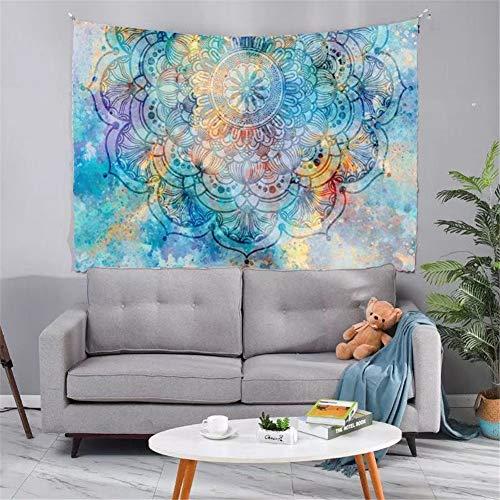 Tapestry Tapiz Pared Decoracion Serie Mandala Hermoso 143 /150x200cm Colgante de pared Ropa de cama Dormitorio Decoración Estera de yoga Alfombras Manta de playa Tarot Hippie indio Boho Pavo real
