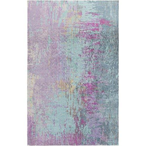 Violetta Blue and Purple Modern Area Rug 4' x 6'