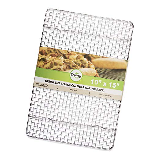 Oven Safe, Heavy Duty Stainless Steel Baking Rack & Cooling Rack, 10 x 15 inches