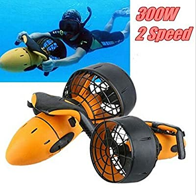 Under Water Scuba Sea Scooter,Waterproof 300W 6km/h Electric Sea Scooter Dual Speed Underwater Propeller Diving Pool Scooter Water for Water Sport Snorket Swim