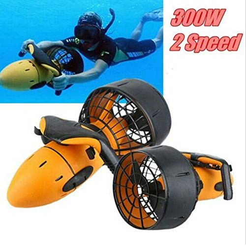 Under Water Scuba Sea Scooter,Waterproof 300W 6km/h Electric Sea Scooter Dual Speed Underwater Propeller Diving Pool Scooter Water for Water Sport Snorket Swim
