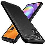Osophter Schutzhülle für Galaxy A31, stoßdämpfend, flexibel, TPU-Gummi, Schutzhülle für Samsung Galaxy A31 (schwarz)
