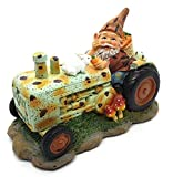 Gartenzwerge, dekorative Figur, Gartenzwerg auf Traktor, Figur für jedes Saison, Rasen, Terrasse, Hof, Baumschmuck, Innen- und Außenbereich