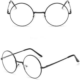 Ned Flanders Gafas y bigote Los Simpsons lentes transparentes de 50 mm y Tash delgadas con marco de plata, gafas redondas ...