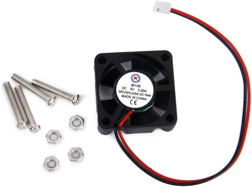 DC 5V 0.2A Cooling Fan w/ Screws for Raspberry Pi Model B+ / Raspberry Pi 2