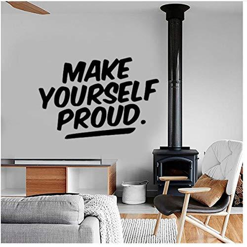 Maak jezelf trotse muur Sticker voor Office Room Decoratie muurschildering Kids Slaapkamer Decor Woonkamer Huis 43x29cm