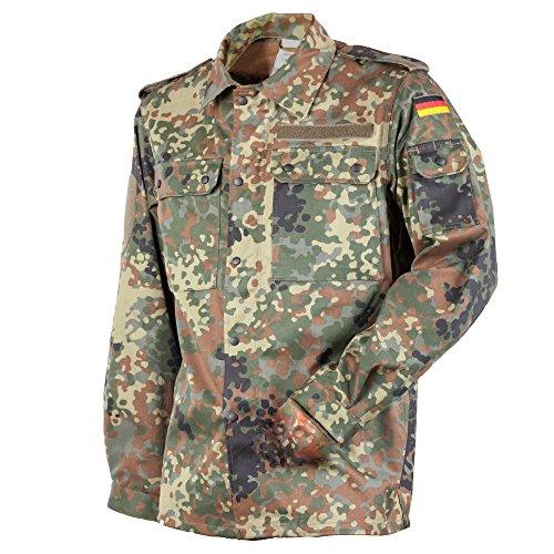FLECKTEX Original Bundeswehr BW Feldbluse Flecktarn 5- Farbig für Männer | Outdoor Kampfbluse und Survival Bluse | Tactical Bluse und Security Bluse (12, Flecktarn 5- Farbig)