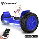 EverCross 8.5' Scooter Patinete del Mano Eléctrico Bluetooth App Self Balancing (White)