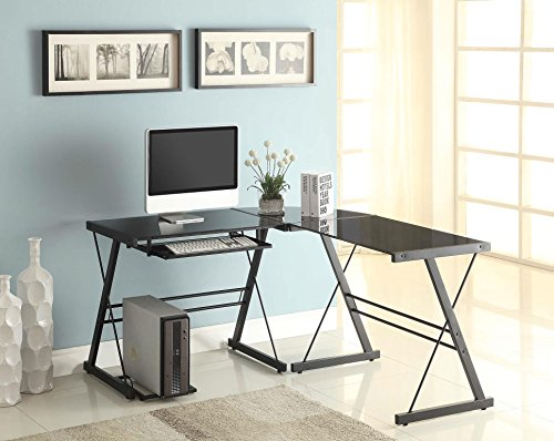 Naomi Home 3 Piece Glass Office Desk