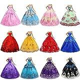 ZITA ELEMENT 6er Mode Kleider für Fashionistas Puppe Prinzessin Abendkleid Brautkleider Outfit Kleidung Kleid Pupenkleidung Spitzenkleider Ballkleider -