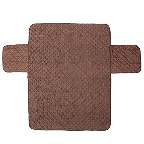 HelloCreate Funda impermeable acolchada para sofá de 1/2/3 asientos, protector de muebles para mascotas (3 asientos), 167 x 190 cm
