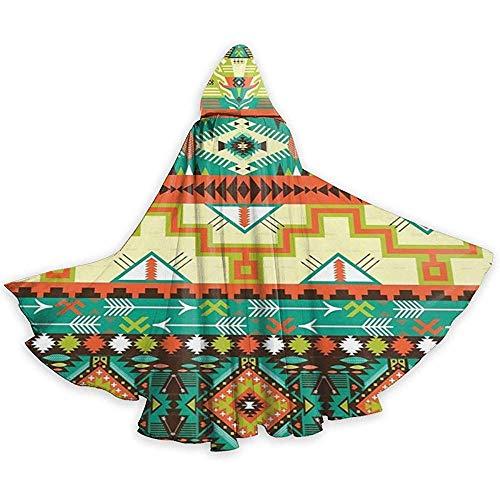 Capa para Adultos Capa Suroeste Suroeste Navajo Resumen Azteca Unisex Longitud Total Capa con Capucha Capa Larga Capa Cosplay Disfraz