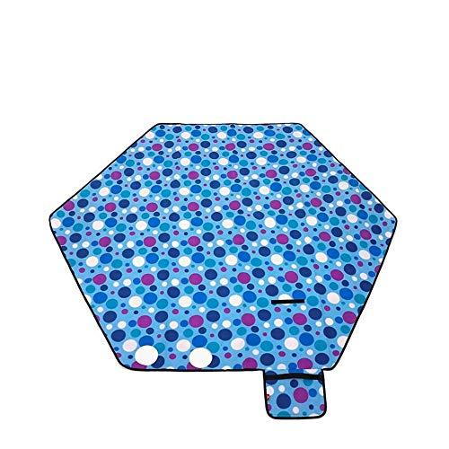 ROIY Tapis De Pique-Nique Extérieur Tapis De Maison Durable Tapis De Plage Tapis De Daim Hexagonal Vert Fleur du Soleil (Color : Bule)