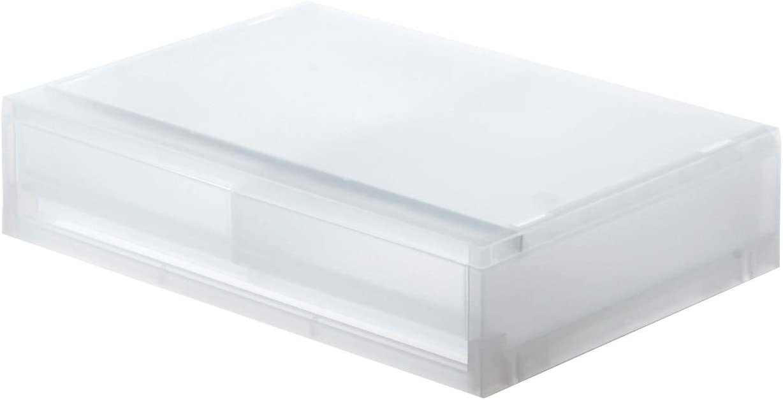 MUJI B4S7009 Storage Case Overseas parallel import regular item White 2 5 ☆ popular Drawer