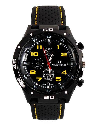 Fanmis GT Racer - Reloj deportivo militar piloto aviador est