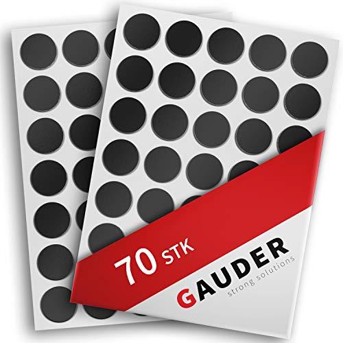 GAUDER Magnetplättchen selbstklebend | Magnetpunkte | Magnetische Plättchen für Fotos, Postkarten & Schilder (70x Punkte)