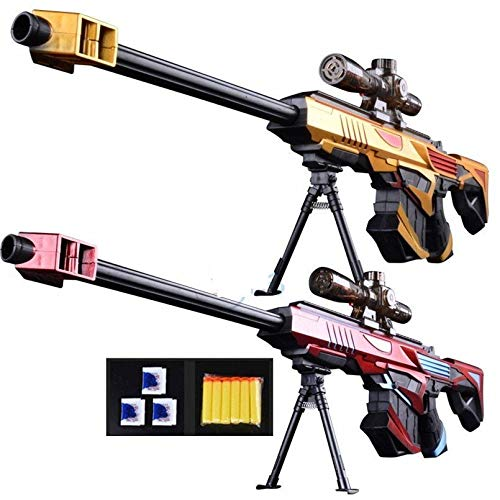Plastic Infrared Water Bullet Gun Toy for Sniper Rifle Pistol Soft Paintball Toy (Red)