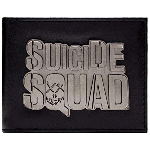 Cartera de DC Comics Suicide Squad pelcula del Emblema Negro