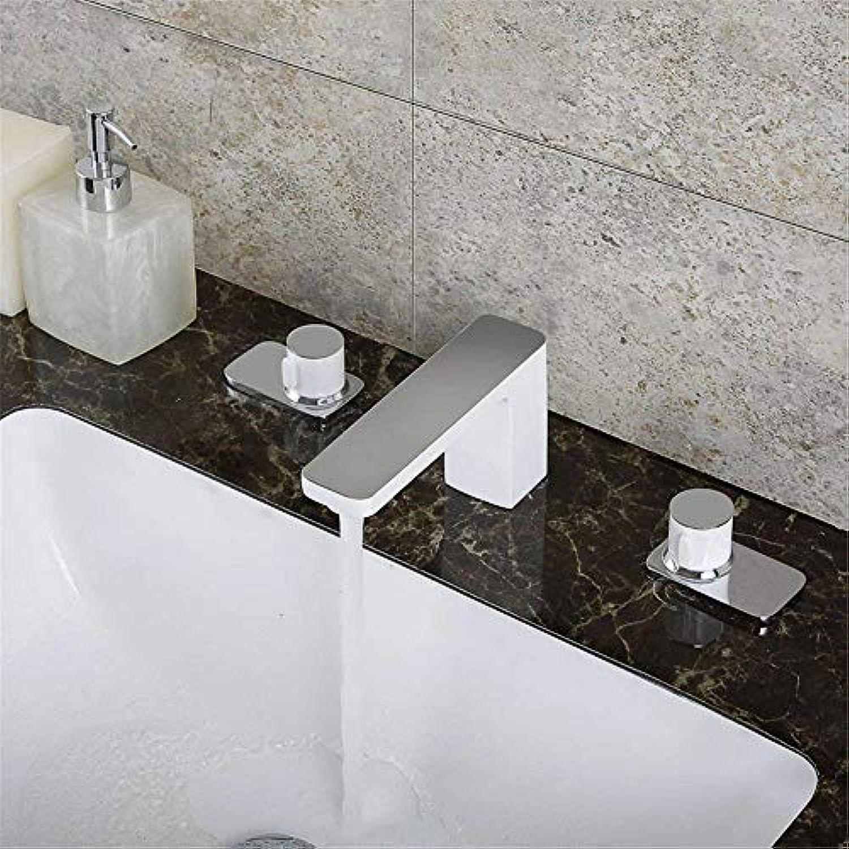 Oudan Küchenmischer aus massivem Messing Wasserhhne Becken Mischbatterie Spüle Becken Mischbatterie warmes und kaltes Wasser (Farbe   -, Gre   -)