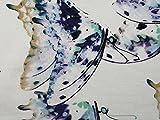 Kleiderstoff mit Schmetterlingsdruck, Stretch, Jersey,