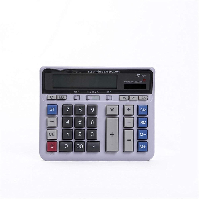 ホーム無法者娯楽デスク電卓 12桁のデスク電卓大きなボタンソーラーデスクトップ電卓(ホームオフィス用) - (ブラック) 学校ホームオフィス用