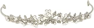 yueton 2 Pack of Rhinestones Wedding Bridal Crown Tiara Pearls Pageant Headpieces Bridal hair accessories (shaped)