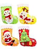 Mimgo-shop Christmas Stocking Sewing Craft for Kids, DIY Felt Sewing Kit for Girls and Boys