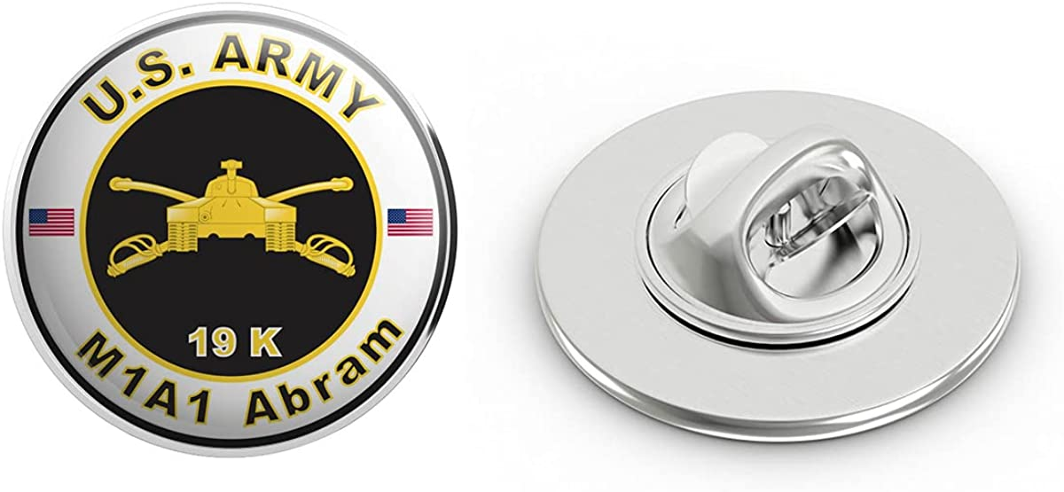 Veteran Pins U.S. Army MOS 19K M1A1 Abram Metal 0.75