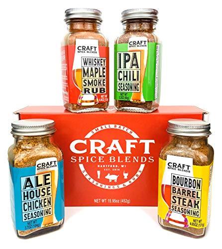 Craft Spice Blends Seasoning & BBQ Rub Gift Set, Grilling Gift for Men & Women